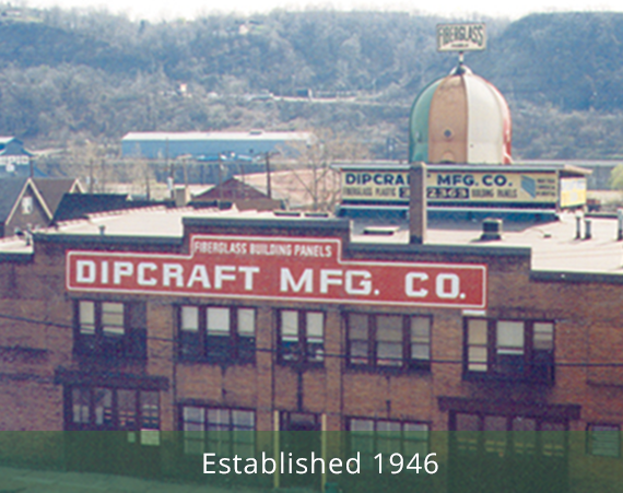 Dipcraft has been making fiberglass panels since 1946