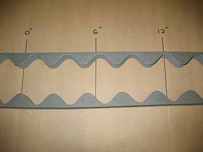 Corrugated rubber closures