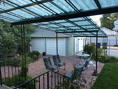 Etonnant Patio Awning, Solar Gray Panel