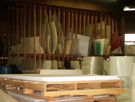 Our fiberglass inventory is extensive