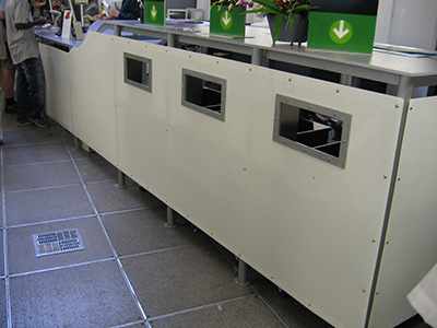 Flat panel counter cover