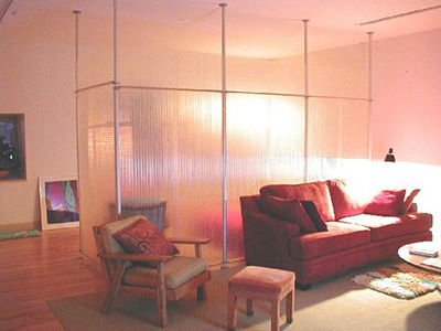 Interior translucent wall divider