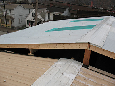 Roof Panels With Fiberglass Ridge Cap